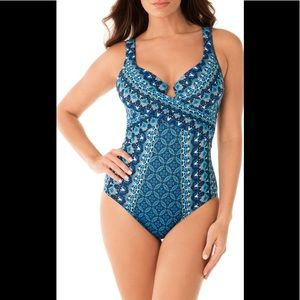 Miraclesuit Mosaica Escape Swimsuit Blue 16